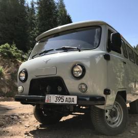 UAZ Buhanka Rental in Kyrgyzstan | Russian Car Hire in Bishkek